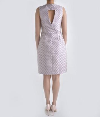 Жаккардовое платье-футляр Globe жемчужное