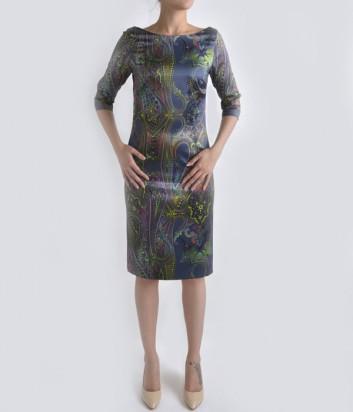 Элегантное платье Globe синее с узором