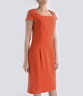 Трикотажное платье Globe оранжевое