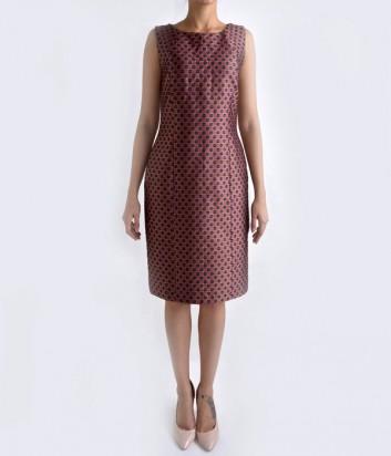 Жаккардовое платье-футляр Globe розовое