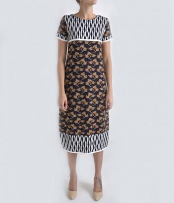 Теплое платье Dixie с осенним принтом