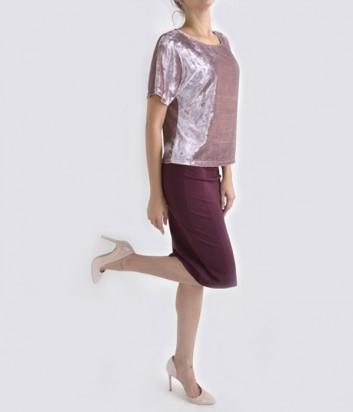 Классическая юбка-карандаш Imperial бордовая