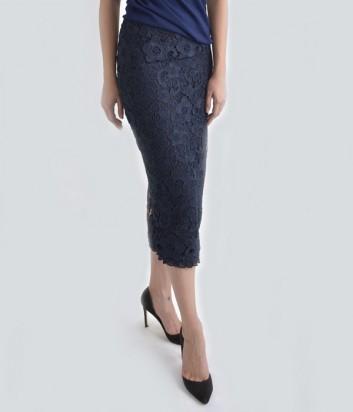 Кружевная юбка-карандаш Imperial синяя
