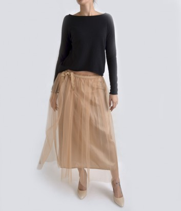 Гипюровая юбка-миди Dixie розовая