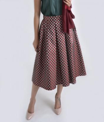 Жаккардовая юбка Dixie бордовая
