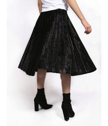 Бархатная юбка-плиссе Imperial изумрудная