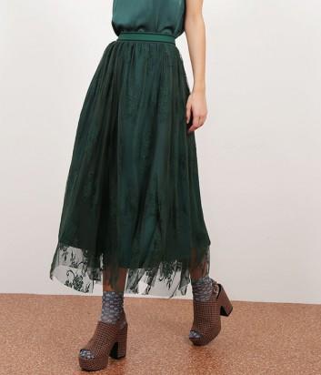 4c80ba0e07c ... Гипюровая юбка-миди Dixie с узором изумрудная ...