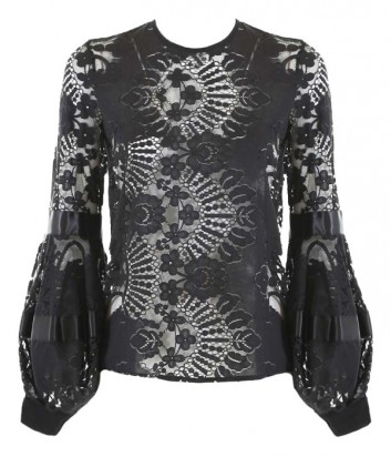 Роскошная кружевная блуза Souvenir черная