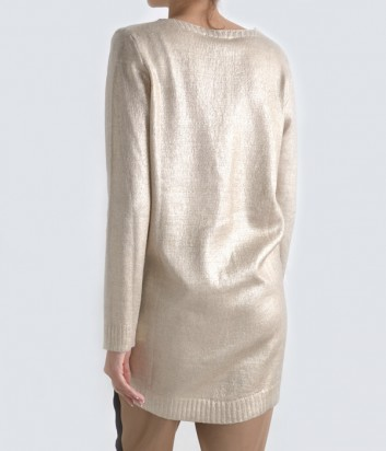 Удлиненный джемпер Rinascimento металлизированный золотой