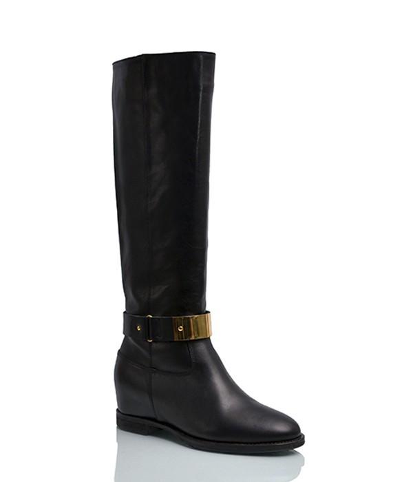 45b51eb79073 Кожаные сапоги Michael Kors Maisie на маленьком каблуке черные - купить в  ...