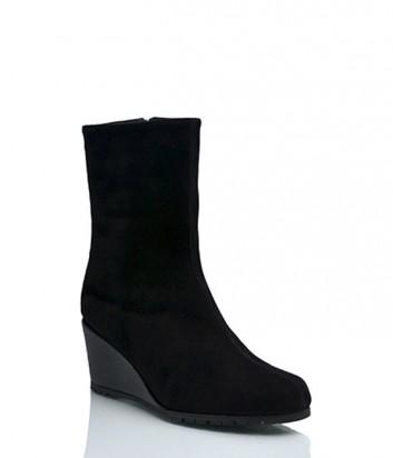 Замшевые ботинки Thierry Rabotin 2608 на меху черные