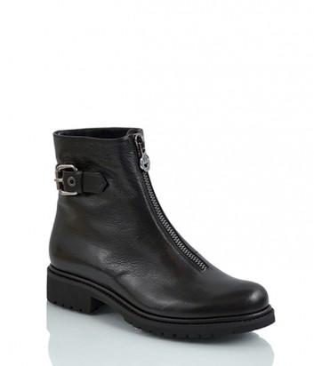 Кожаные ботинки Loriblu 3077 с молнией черные