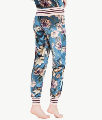 Бархатные штаны Twin Set LA7NHH с цветочным рисунком