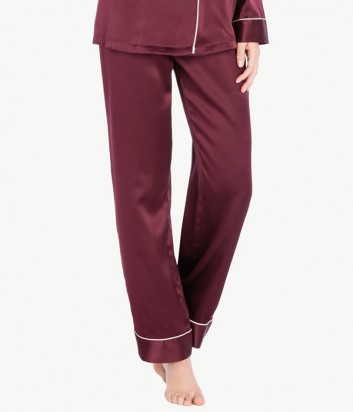Шелковые брюки Twin Set LA7NDD ежевичные