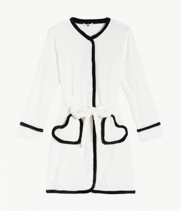 Плюшевый халат Twin Set LA7UAA с кантом