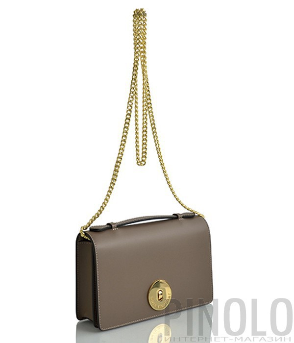 0cc56e82d8f0 Кожаная сумка на цепочке Sara Burglar 1525 карамельная - купить в ...