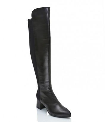 Кожаные сапоги-ботфорты Loriblu 16332 черные