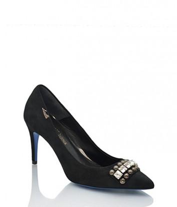 Замшевые туфли Loriblu 7269 черные