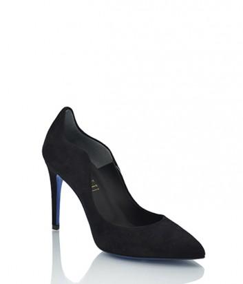 Замшевые туфли Loriblu 9016 черные