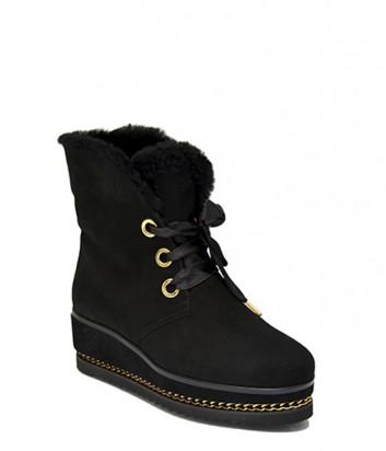Зимние ботинки Loriblu 5315 замшевые черные