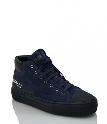 Замшевые кроссовки Roberto Cavalli 1069 синие