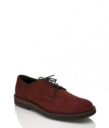 Замшевые туфли Dino Bigioni 14356 бордовые