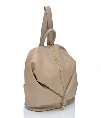 Кожаный рюкзак Di Gregorio 8539 бежевый