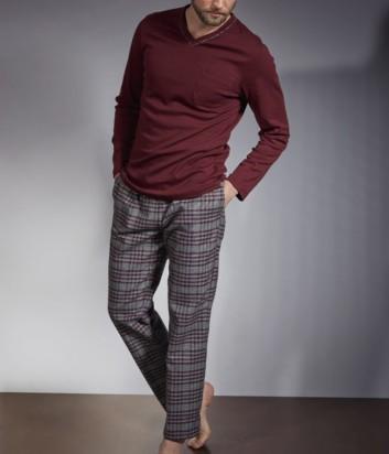 Мужская пижама Verdiani 5845 бордовая