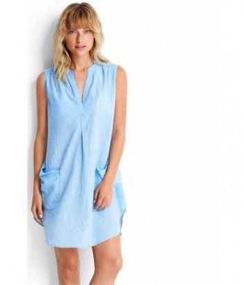Хлопковая туника-платье Seafolly 53127-CU голубая