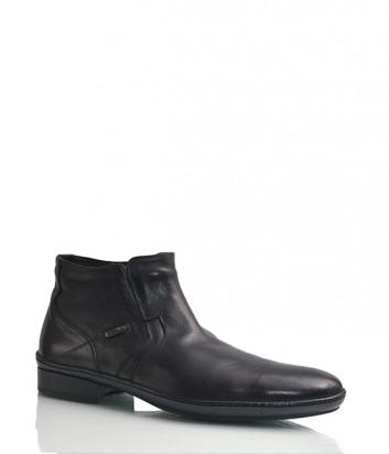 Кожаные ботинки Florian 542 с мехом черные
