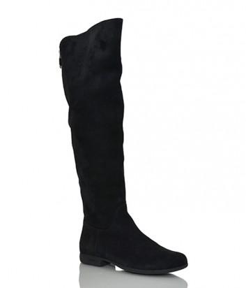 Замшевые сапоги-ботфорты Loriblu 9775 черные