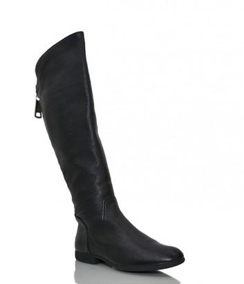Зимние кожаные сапоги Loriblu 726 черные