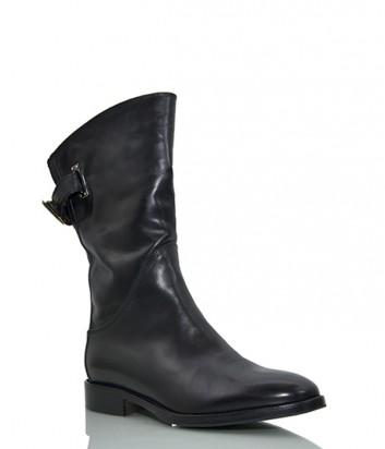 Кожаные ботинки Le Pepe 24020 на меху черные
