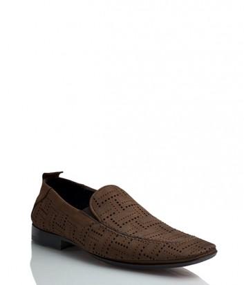 Замшевые туфли Florian 744 коричневые