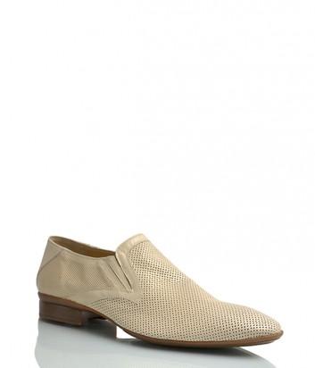 Кожаные туфли Florian 847 бежевые