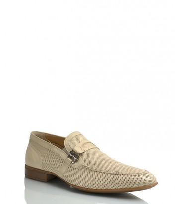 Кожаные туфли Florian 719 бежевые