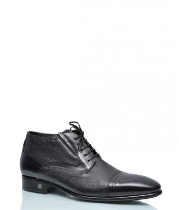 Кожаные ботинки Mario Bruni 833 на меху черные