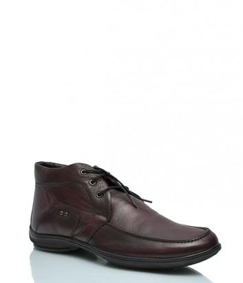 Кожаные ботинки Roberto Rossi 4622 на меху коньячные
