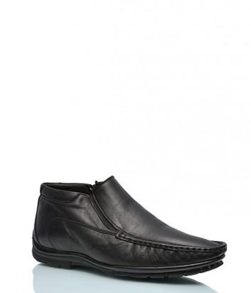 Теплые ботинки Roberto Rossi 4621 на меху черные