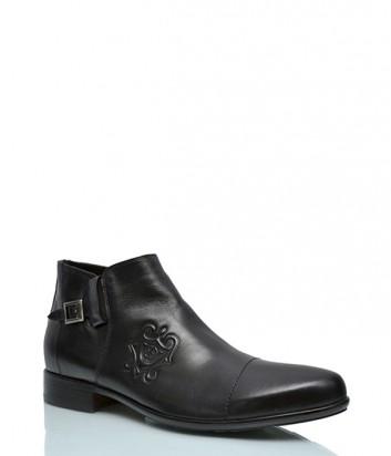 Кожаные ботинки Gianfranco Butteri 804 на меху черные
