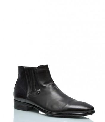 Кожаные ботинки Mario Bruni 843 на меху черные
