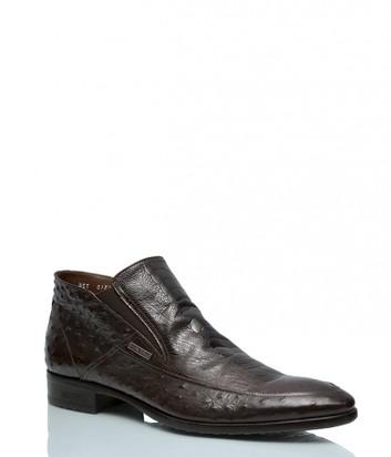 Зимние ботинки Mario Bruni 340 с тиснением коричневые