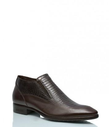 Теплые ботинки Mario Bruni 506 с тиснением коричневые