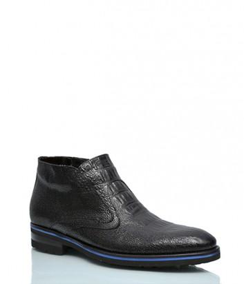 Теплые ботинки Mario Bruni 220 с тиснением под крокодила