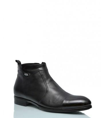Кожаные ботинки Mario Bruni 637 на меху черные