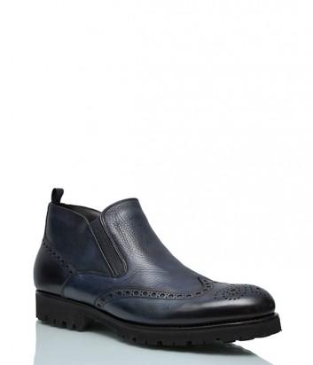 Кожаные ботинки Mario Bruni 410 на меху синие