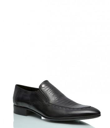 Кожаные туфли Mario Bruni 917 с тиснением под рептилию