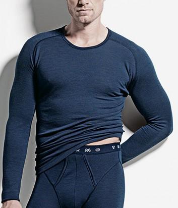 Термо-кофта с длинным рукавом ISA bodywear 1615 синяя