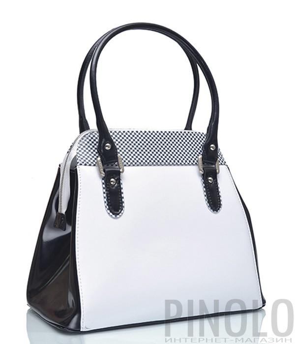 6fc50ccb Сумка Gilda Tonelli 9240 белая с черным узором - купить в Интернет ...