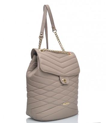 Кожаная сумка-рюкзак Marina Creazioni 3812 бежевая